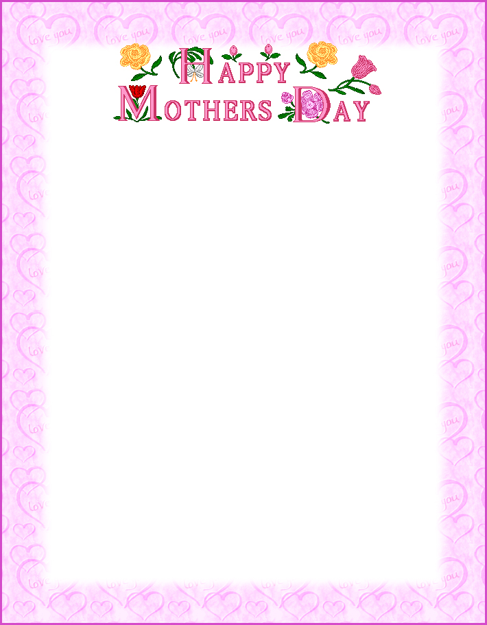 Mothers Day Borders.
