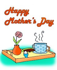 Mothers Day Breakfast Clipart.