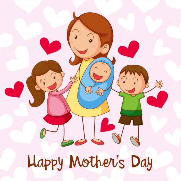 Happy mothers day card Vector.