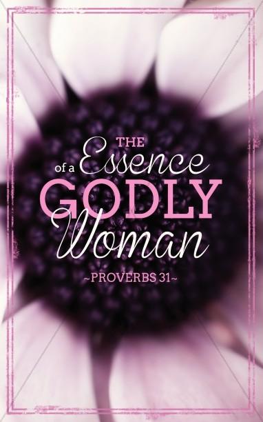 Godly Woman Church Bulletins.