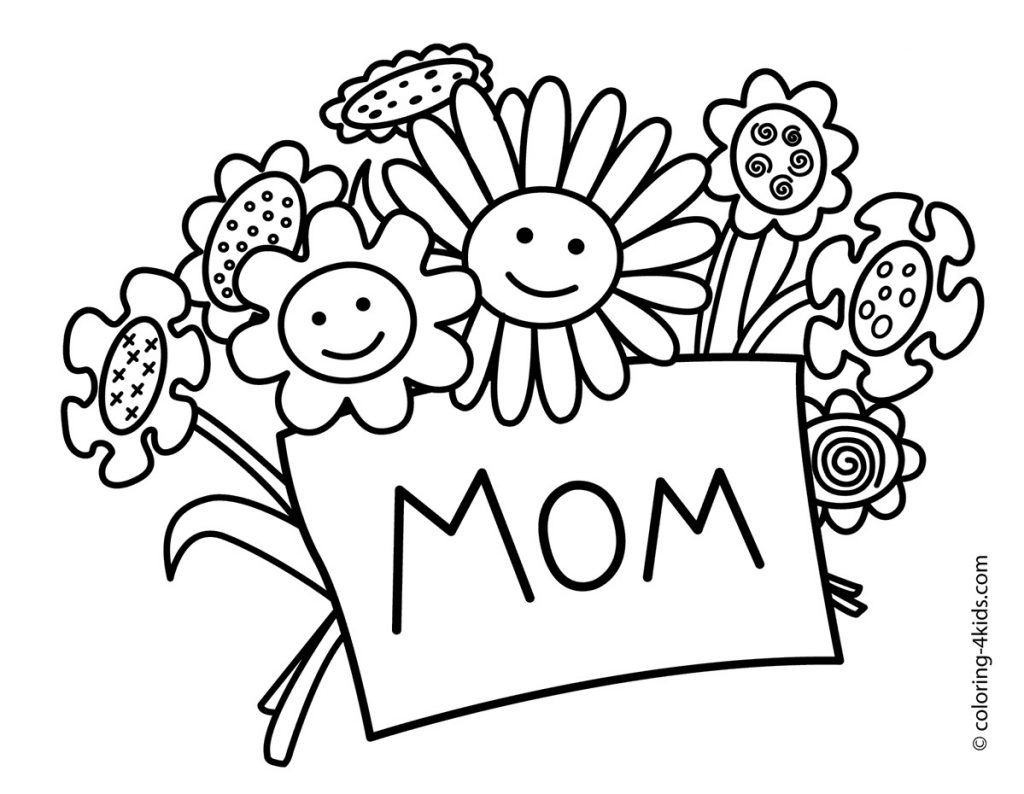 Png^ Mothers Day Clipart Images, Black and White, Free Download.