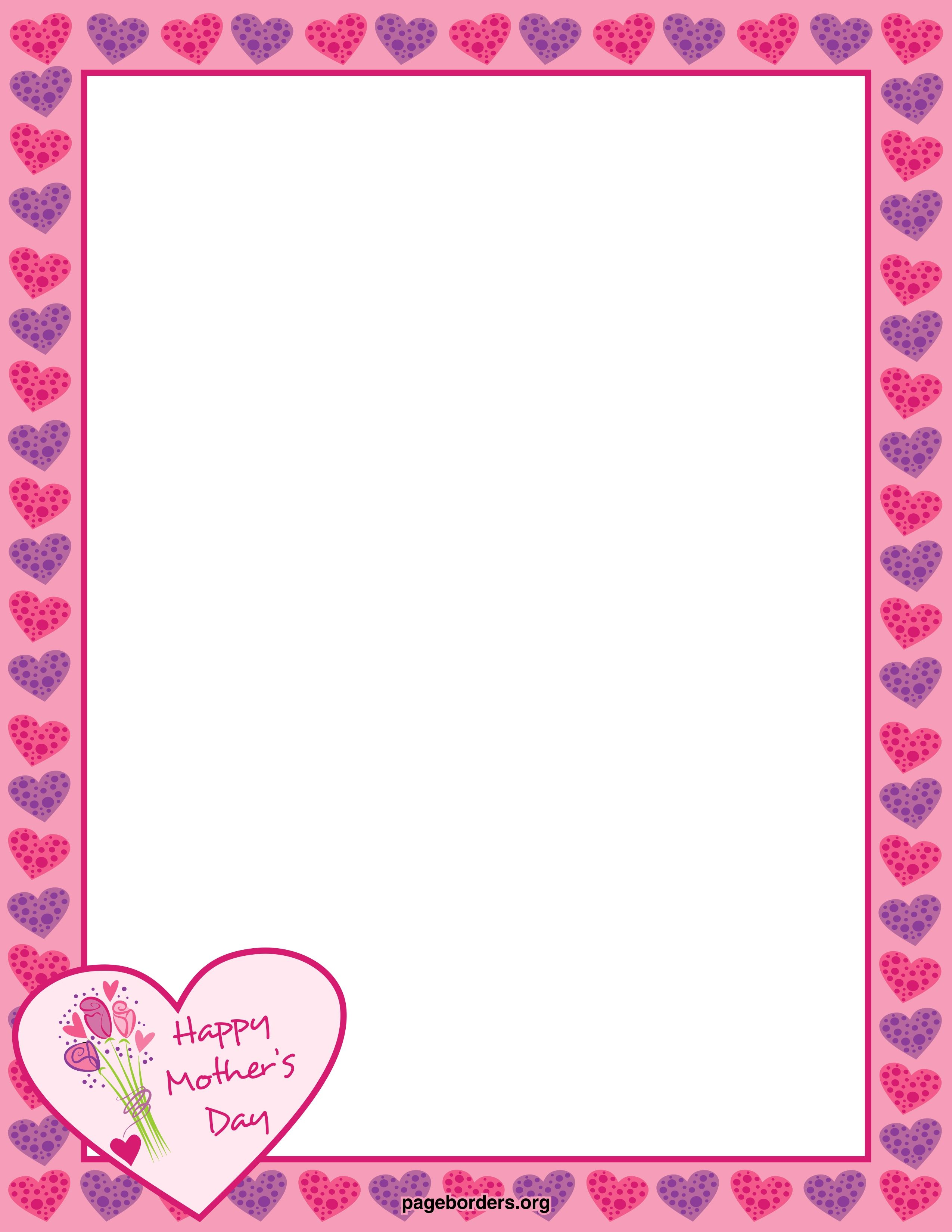 Mothers Day Border Png & Free Mothers Day Border.png.