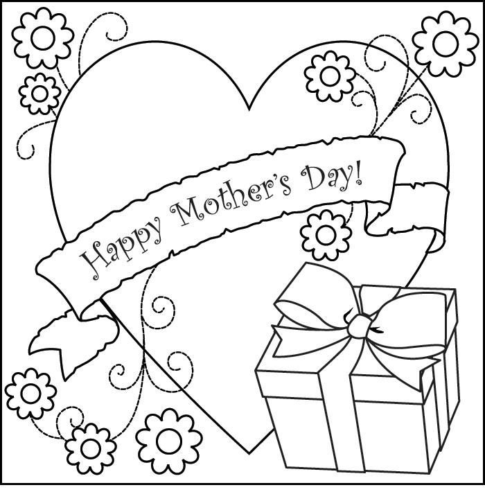 New Happy Mothers Day Cards Coloring Pages.