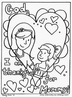 Print out this Mother's Day Coloring page for your sponsored child.
