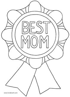 Happy Mothers day Coloring Pages for Kids.