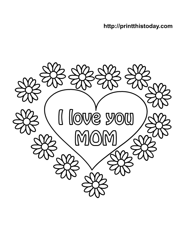 Free Print Valentine Coloring Pages.