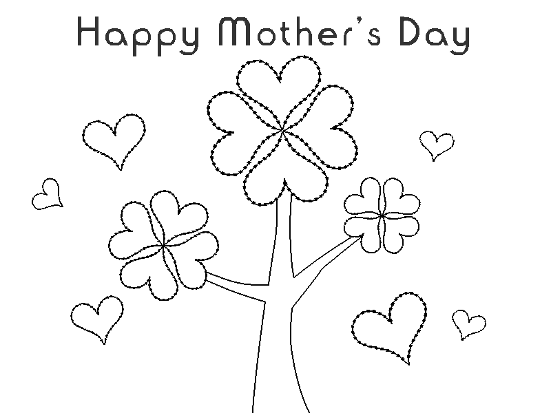 mothers day clipart to color 20 free Cliparts   Download ...