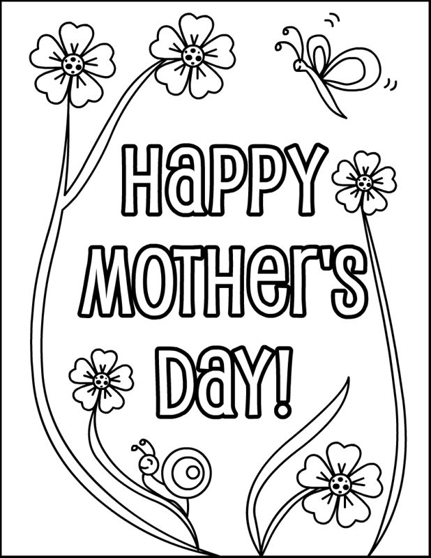 Download Mothers Day Clipart To Color 3