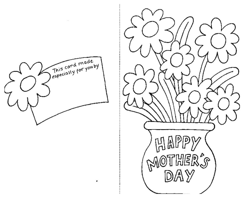 Mothers Day Clipart To Color.