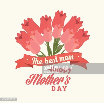 Mothers day design, vector illustration. Clipart Image.