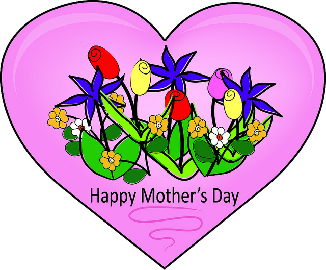 Mother's Day Heart Clipart.