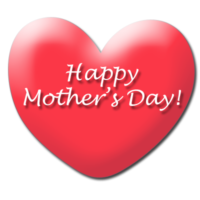 Clipart of mothers day hearts.