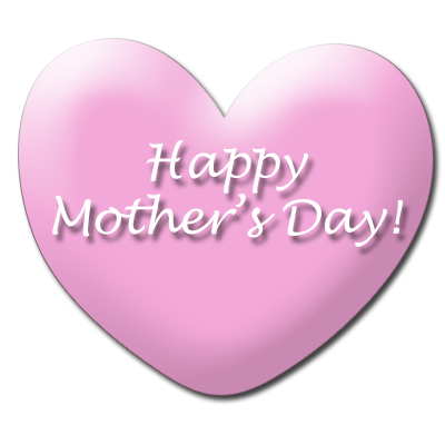 Mother day heart clipart.