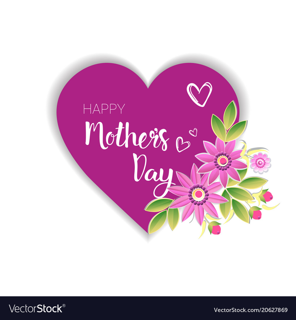 Happy mothers day logo isolated holiday greeting.