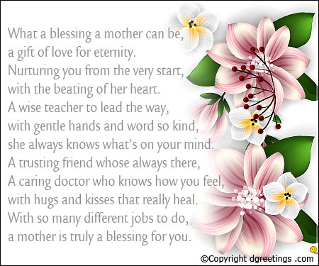 mothers day peom clipart #10