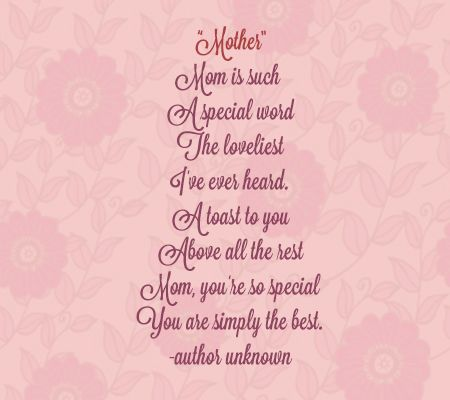 mothers day peom clipart #1