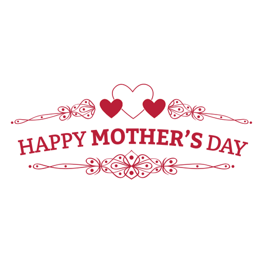 Mothers day retro badge.