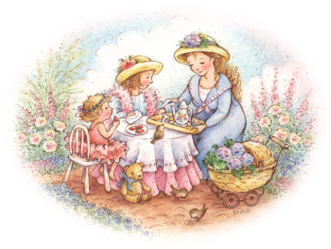 Mothers Day Tea Clip Art.