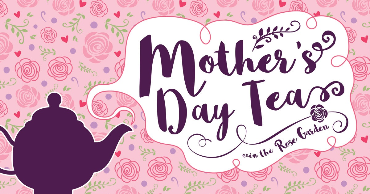 Mother\'s Day Tea in the Rose Garden.