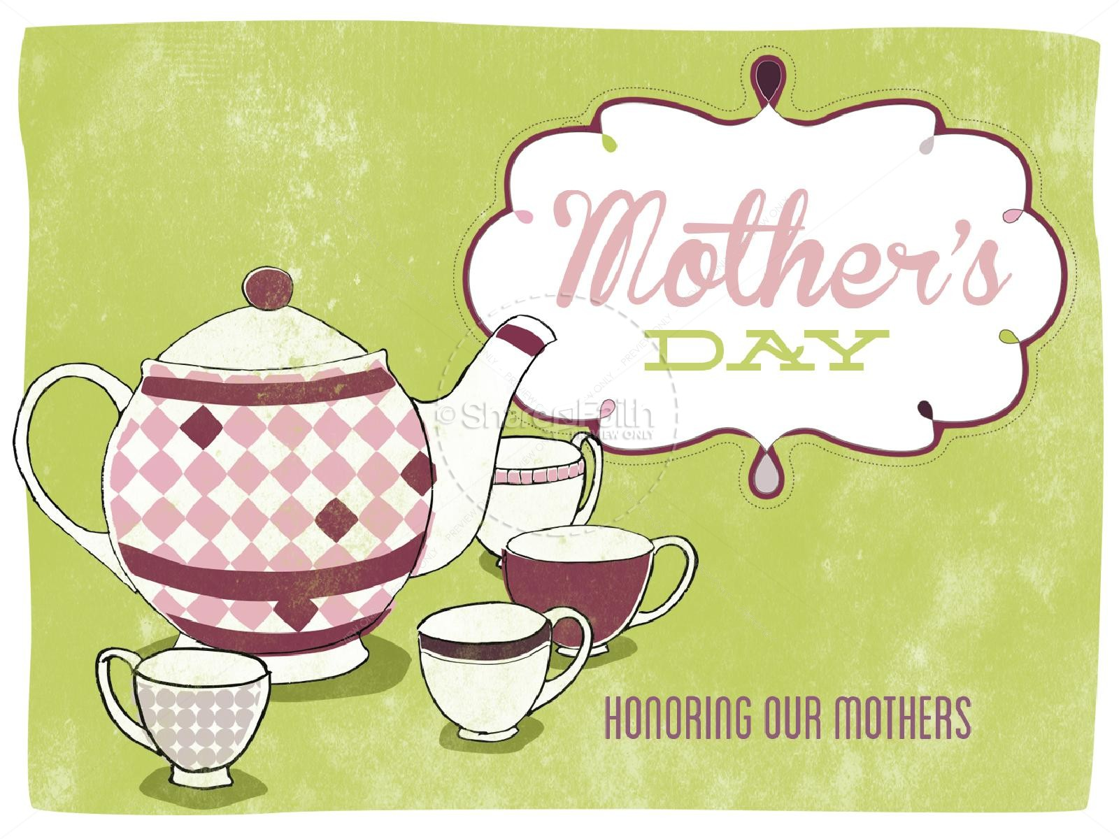 Mother\'s Day Tea Party PowerPoint.