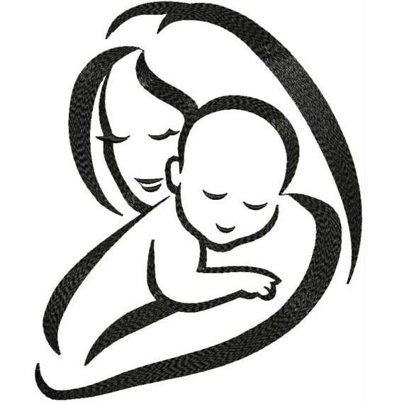 Mother\'s Love Baby and Mom Machine Embroidery Designs.
