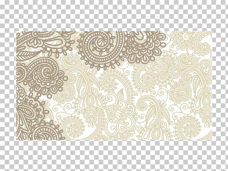 Cdr CorelDRAW Yup, motif Batik, brown and whit e floral PNG.