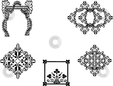 Motifs and inkblots stock vector.