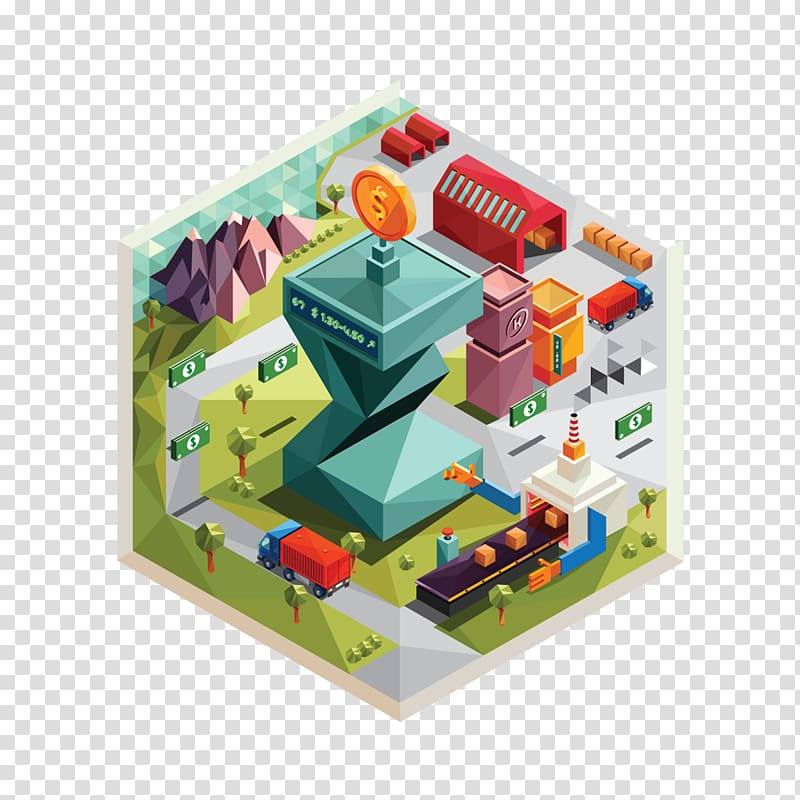 Motion graphics Flat design Illustration, Flat Cube.
