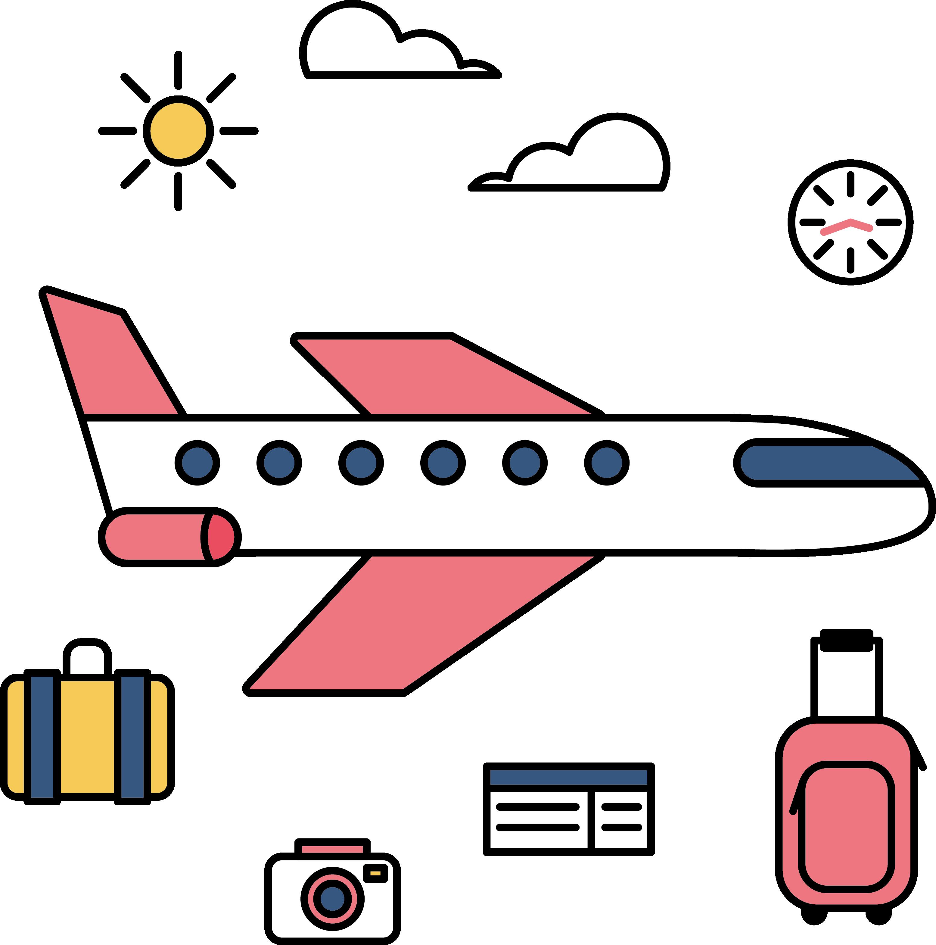 Tourism Motion Graphics Clip Art.