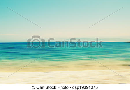 Picture of An abstract sea seascape with blurred panning motion.