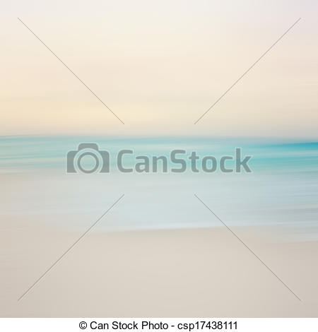 Clipart of An abstract sea seascape with blurred panning motion.
