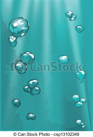 EPS Vector of sea bubble. background with bubble in motion.