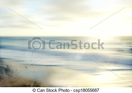 Stock Illustration of An abstract sea seascape with old paper.