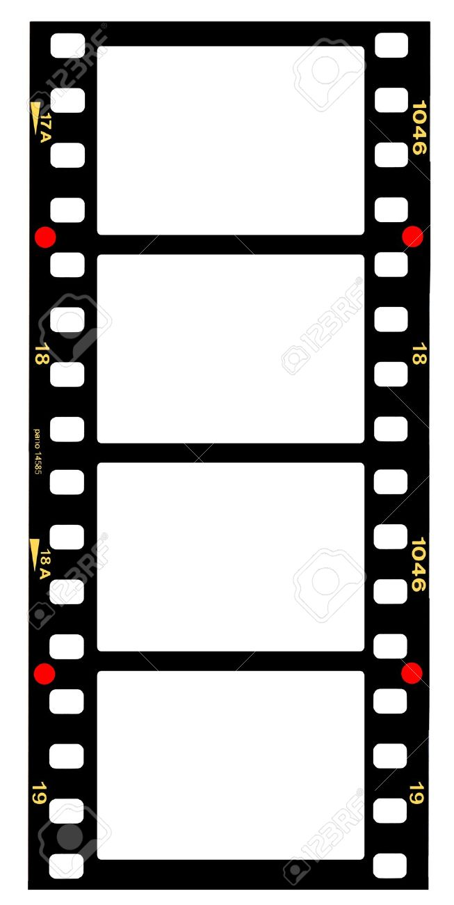 35mm Format Movie Filmstrip, Picture Frames,standard Film Picture.