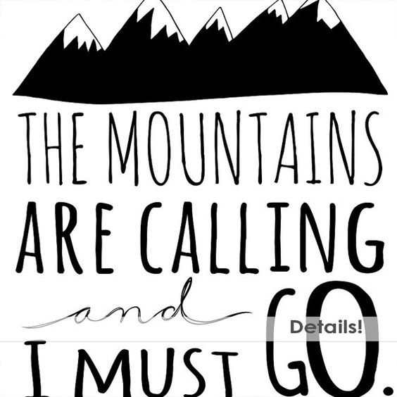 Mountain Clip Art Word Art & Inspirational Quotes by FishScraps.