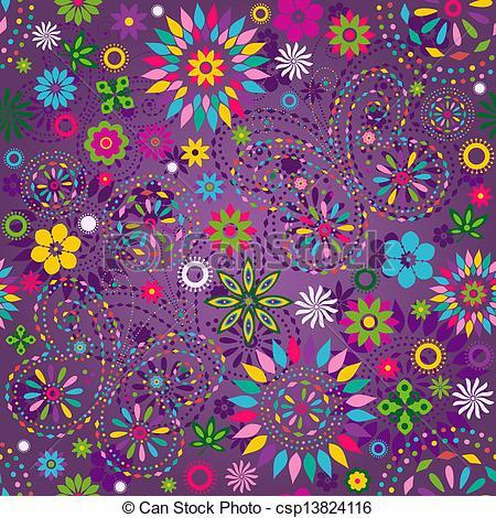 Vector Clip Art of Seamless motley violet pattern.
