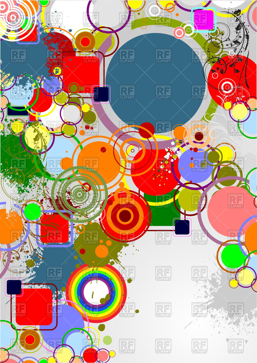 Modern motley geometric background of circle Vector Image #57632.