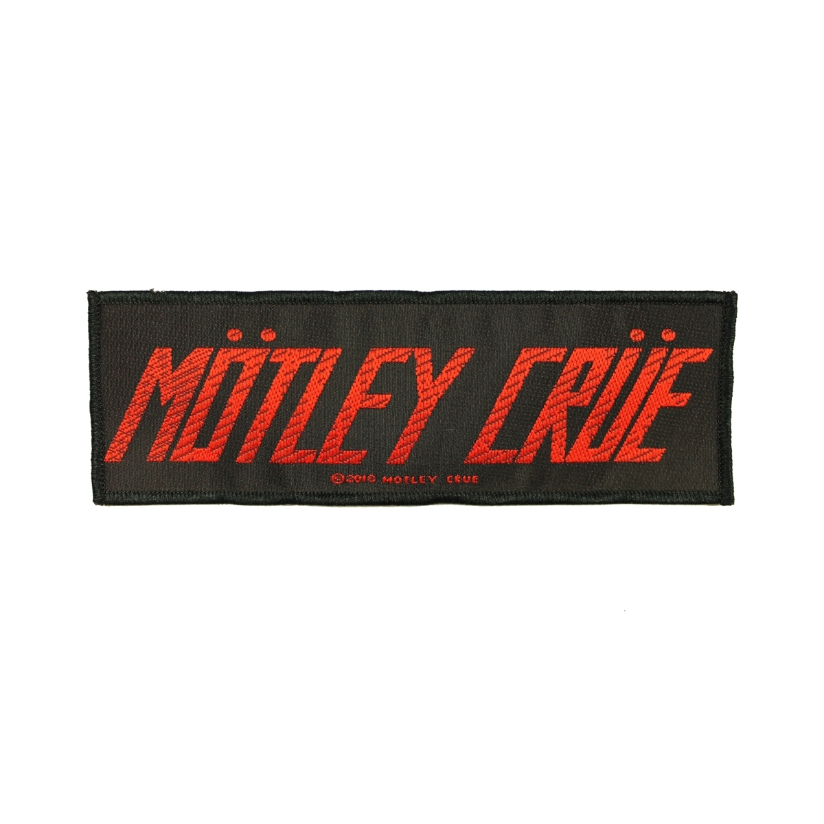 Motley Crue Band Logo Patch Hard Rock Band Heavy Metal Woven Sew On Applique.