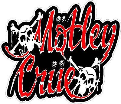 Motley Crue Logo Decal Sticker 80\'s Heavy Metal Rock The Dirt.
