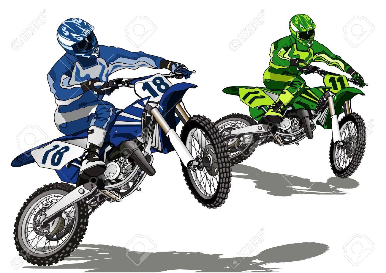 Clipart motocross.