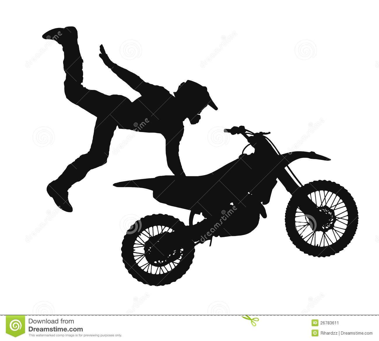 Motocross Dirt Bike Clipart.