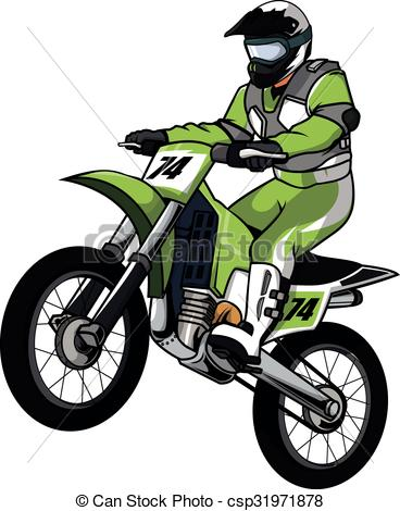 Vectors Illustration of Moto cross vector illustration design.