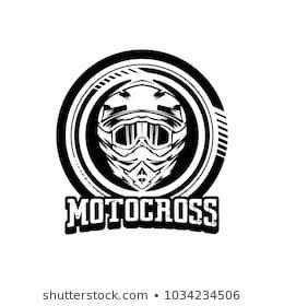 Helmet motocross design logo.