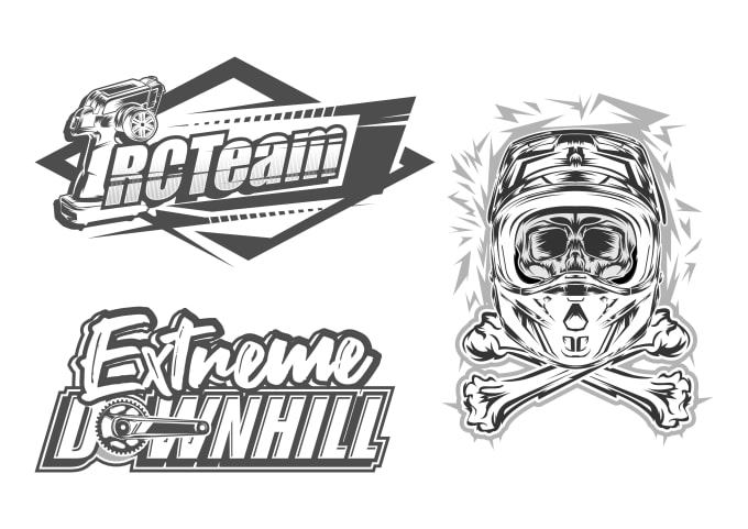 create amazing racing, motocross, car sport vector logo.