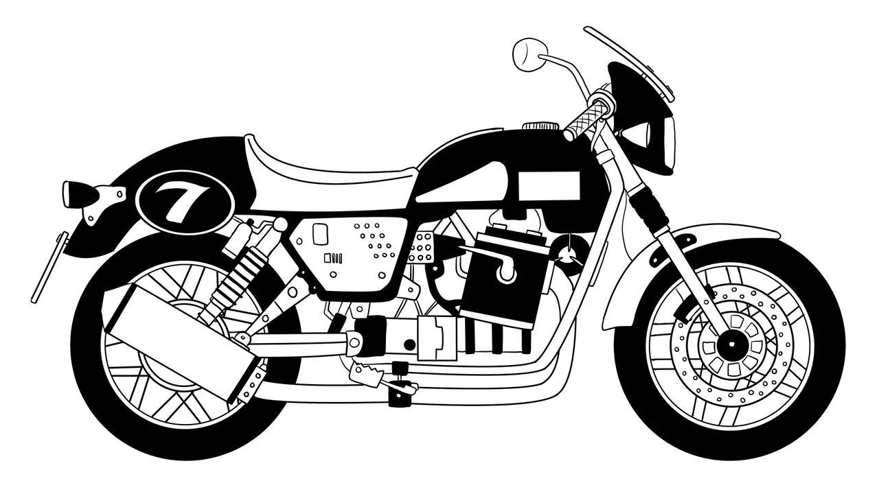 Moto Guzzi V7.