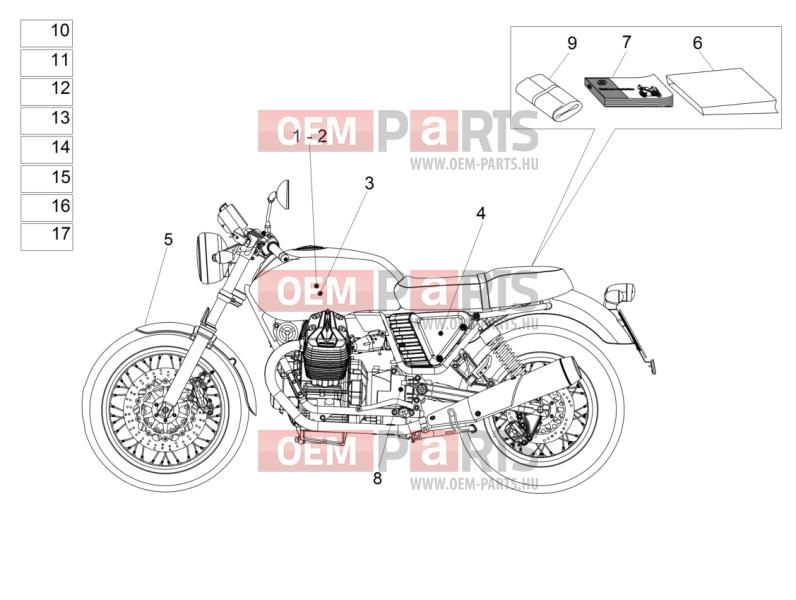 Moto guzzi V7 II STONE ABS 750 USA.