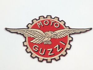Details about Moto Guzzi Eagle Logo ~ Embroidered Patch ~ Iron On Sew On.