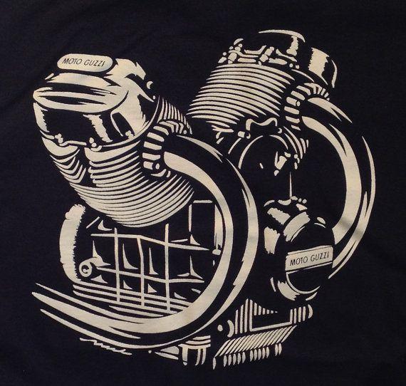 Moto Guzzi engine motor Tshirt V7 LeMans Eldorado 850T by.
