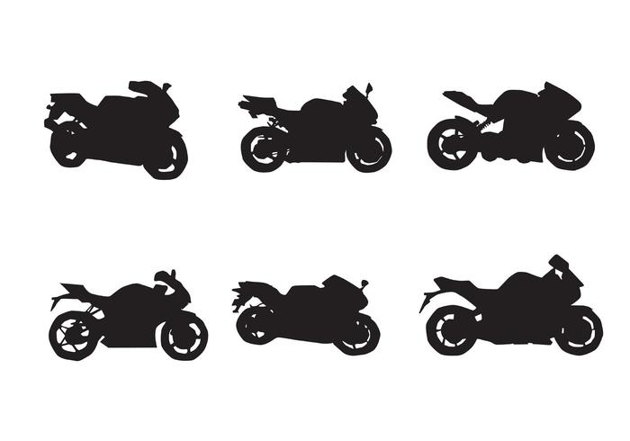 Free Motorcycle Vector Silhouettes Two.