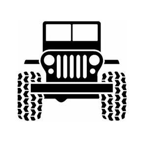 Jeep CJ Off Road Vinyl Decal Sticker.
